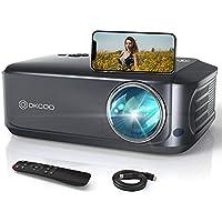 OKCOO Full HD 1080p 7500-Lumens Portable Projector