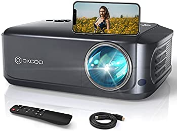 OKCOO FHD 1080p 7500-Lumens Portable Projector