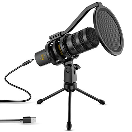 USB Microphone ZINGYOU Computer Gaming Microphone Condenser Mic for Streaming Podcasts YouTube Skype...