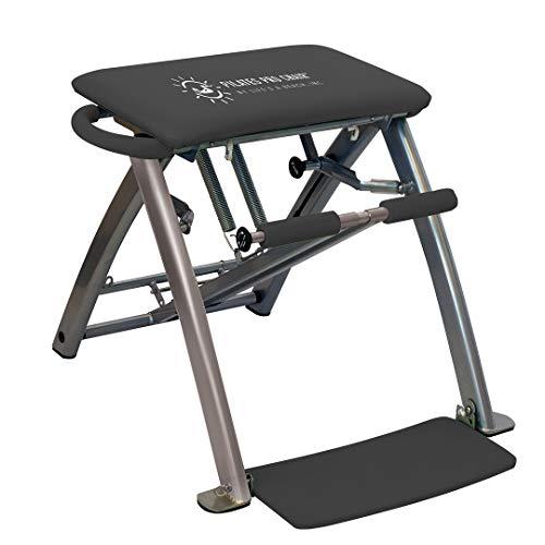 Silla de ejercicio profesional Pilates | Ejercicios de fitness en casa o en el estudio | Modelo 'La vida es una playa' + 4 DVD instructivos | Como se ve en la television