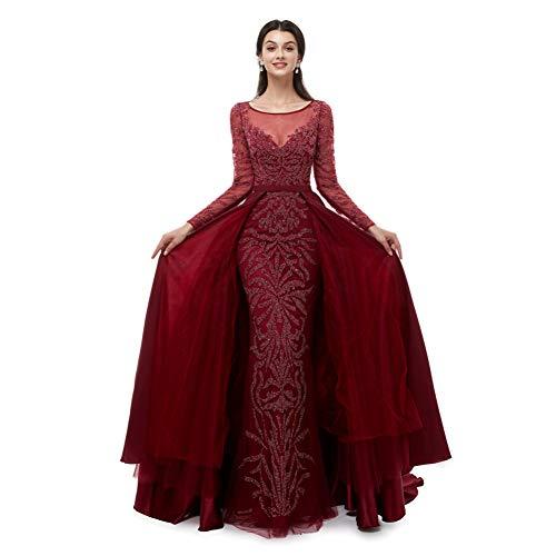BINGQZ Cocktailkleider/Formale rote Spitze-Abendkleider für die sexuelle Lieblingskleidung Meerjungfrau elegant für Abschlussball-Kleid Kleider für besondere Anlässe