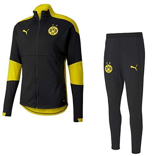 PUMA BVB Borussia Dortmund Trainingsanzug Fanartikel der Saison 2020-2021 Herren 20-21, Größe:L