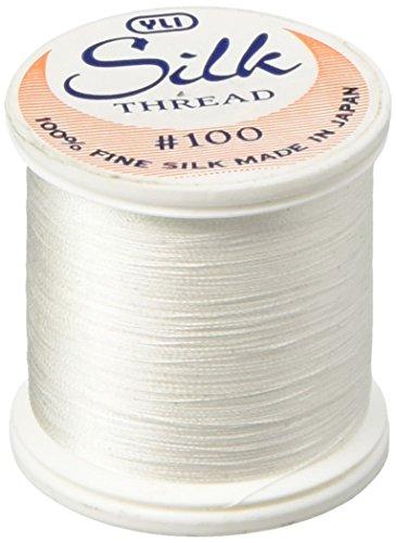 YLI 20210-WHT 100wt T-12 Silk Thread, 200m, White