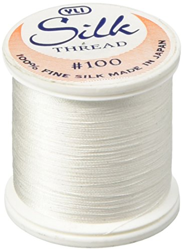 YLI 20210-WHT 100wt T-12 Silk Thread, 200m, White