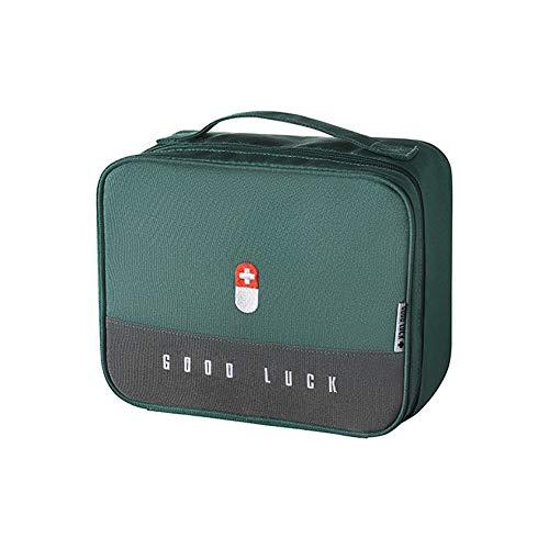 Erste Hilfe Set Erste-Hilfe-Koffer Kompakt First Aid Kit Bag Notfalltasche Medizinisch Tasche Klein Wasserdicht Tragbar für Haus Auto Camping Jagd Reisen Natur und Sport-9.8x7.9x5.3Zoll (Grün-L)