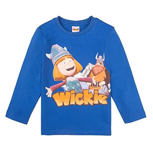Wickie Jungen T-Shirt, Langarmshirt, blau, Größe 104, 4 Jahre
