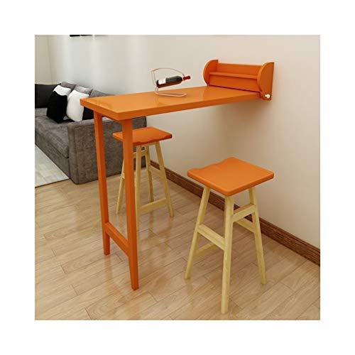 SGMYMX Ecktisch Klappbarer Bartisch, an der Wand befestigter Mini Bar Theke, einfacher Esstisch, Multifunktionsregal Laptop-Tisch (Color : MDF)