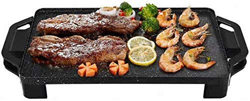 Parrilla eléctrica plancha Teppanyaki Grill eléctrico grande de sobremesa hacer pan placa...