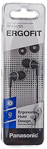 Sony MDR-EX110APB In-Ear-Kopfhörer schwarz & Panasonic RP-HJE125E-K In-Ohr-Kopfhörer (DREI Paar Pass-Stücke, 10-24.000 Hz, 1,1 m Kabel) schwarz