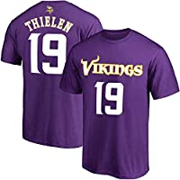 NFL Youth 8-20 Team Color Polyester Performance Mainliner Player Name and Number Jersey T-Shirt (Small 8, Adam Thielen Minnesota Vikings Purple)