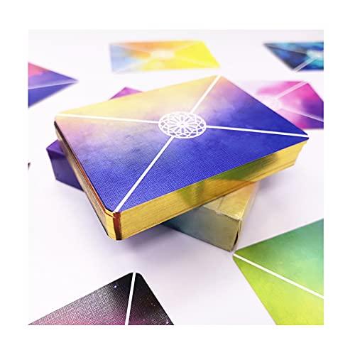Naipes Coloridos - Cartas de Póquer de Papel con Núcleo Negro - Baraja de Cartas - Colores únicos del Arco Iris Brillantes para Niños y Adultos, Juegos de Naipes,B
