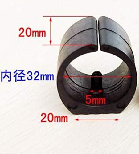 TTYAC 4ST / Los Plastikbürostuhlbein Pads Abdeckungen Bumper Damper Hocker Fuß Anti-Front U-Rohrmatte 22mm Stahlrohrschelle Kippen, Innendurchmesser 32 mm