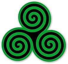 Triple Spiral Triskele Celtic Vinyl Sticker - Car Phone Helmet - SELECT SIZE