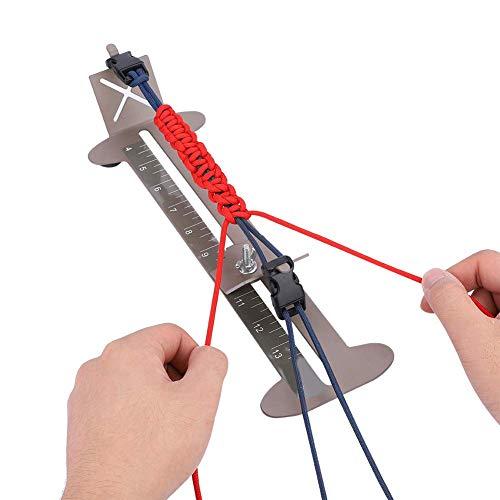 para Cord Jig Kit, Kit de brazalete con marco de acero ajustable de acero inoxidable con hebillas libres para hacer para Pulseras de cordón, cordones, llaveros