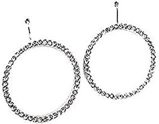 Kate Spade New York Sparkling Crystal Stud Hoop Round Silver Plated Dangle Earrings