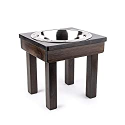 aised Dog Single or Double Bowls - Solid Wood Cat and Dog Bowl Stands, NO ASSEMBLY REQUIRED! Stainless Steel Bowl(s) Large, Medium, and Universal Sizes - Eco-Friendly and Non-Toxic - Made in the USA
