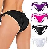 FOCUSSEXY Women's Sexy Brazilian Bikini Bottom...