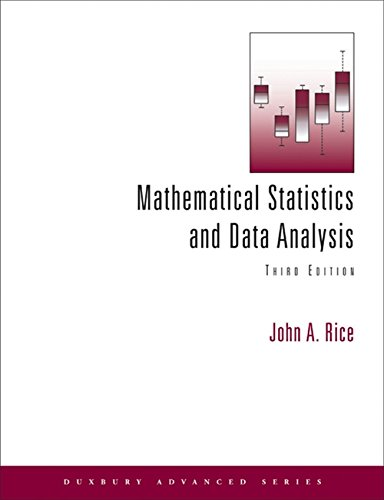 Compare Textbook Prices for Mathematical Statistics and Data Analysis with CD Data Sets Available 2010 Titles Enhanced Web Assign 3 Edition ISBN 9788131519547 by Rice, John A.