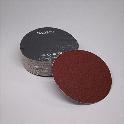 Find Bargain BAOSTC 5 no holes P60 PSA sanding disc,red aluminum oxide 50PACK