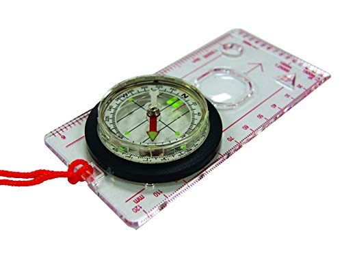 UST Deluxe Map Compass with Raised Base Plate and Swivel...