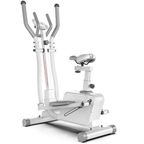 Funda de almohada Versión mejorada Bicicleta de ejercicio silencioso, 3 en 1 Fitness de interior, spinning Bicycle Stepper Máquina elíptica con volante de dos vías con control magnética puede soportar