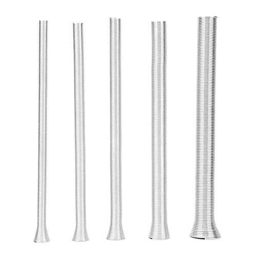 Dobladora de tubo de resorte 21cm Dobladora de tubo de resorte de acero súper elástico Tubo de doblado de alambre eléctrico de PVC para tubos de cobre curvos Tubos de aluminio (5Pcs)