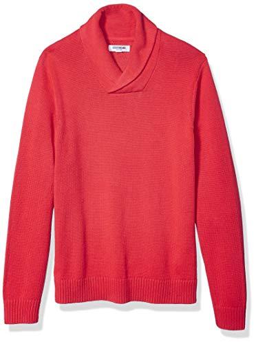 Amazon Brand - Goodthreads Men's Soft Cotton Shawl Sweater, Red X-Large