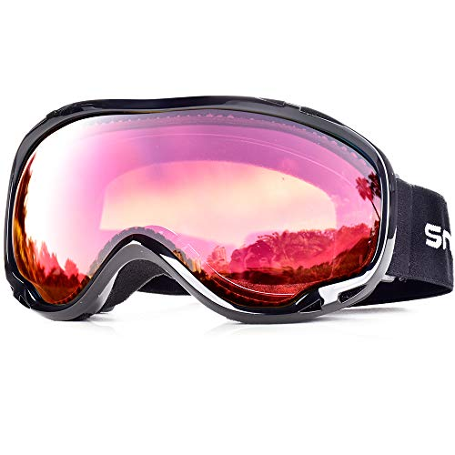 HUBO SPORTS OTG Skiing Snow Goggles with UV Protection, Ski Goggles Of Dual Lens With Anti Fog for...