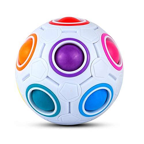 ThinkMax Magic Ball Regenbogenball , 3D Puzzle Zauberbal Fidget Cube Spielzeug für Kinder