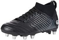 canterbury Men's Stampede 3.0 Pro Soft Ground Rugby Shoe, Black/Dark Grey/Light Silver, 11 UK by Canterbury