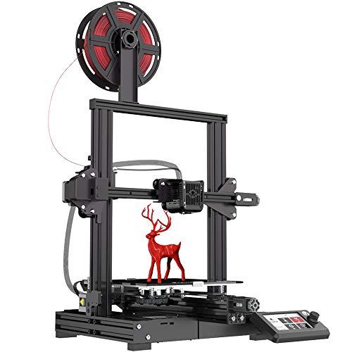 Voxelab Aquila 3D Printer, DIY FDM All Metal 3D Printers Kit with Removable Carborundum Glass Platform, Resume Printing Function, Print Size 220x220x250mm (Black)