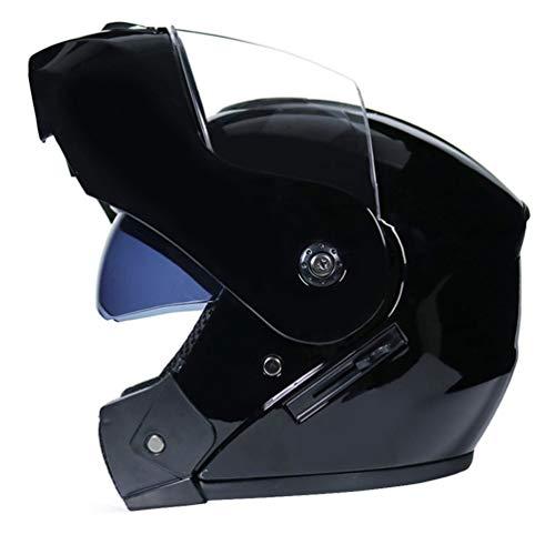 LucaSng Casco integrale Casco Moto Integrale Doppia Visiera Caschi Modulare Donna Uomo Caschi Apribili Leggero Ciclomotore Ciclismo per Moto Scooter Motorino Caschi Integrali Donna Uomo