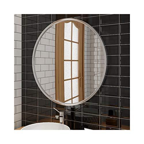 YXB eenvoudige ronde afgeronde diameter cirkelvormige wandspiegel zonder lijst spiegel met een zilverkleurige achtergrond afgerond spiegelglas J4/17