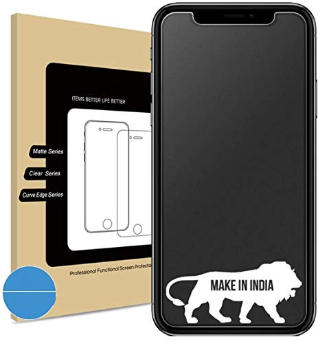 Divine® Matte Tempered Glass Screen Protector for Apple iPhone XsMax iPhone 11ProMax with Installation kit (Full Matte Glass only for Main Display Screen Area)