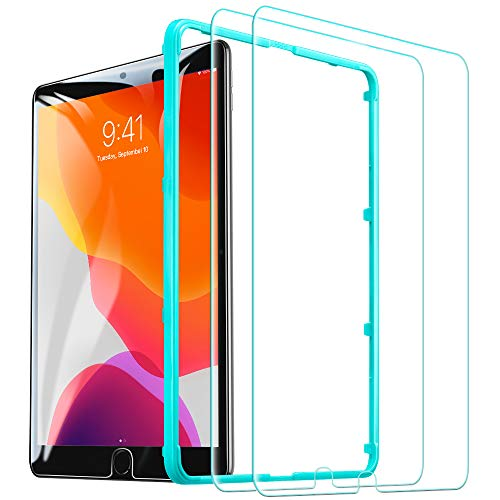 ESR [2 Stück] Schutzfolie für iPad 10.2 2019 (7. Generation)/iPad Air 3/iPad Pro 10.5, Premius 9H Hartglas Bildschirmschutzfolie für iPad 10,2 / 10,5 [Kristallklar Blasenfrei Kratzfest]