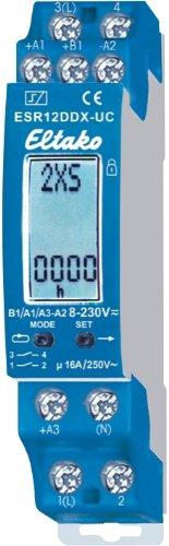 Eltako 4991828 ELTA Stromstoss-Schaltrelais ESR12DDX-UC 1+1Schliesser 2000W
