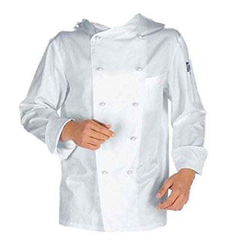 Fratelliditalia Giacca Casacca da Cuoco Chef Cotone Bianca con Bottoncini Divisa Classica TG XXL/54