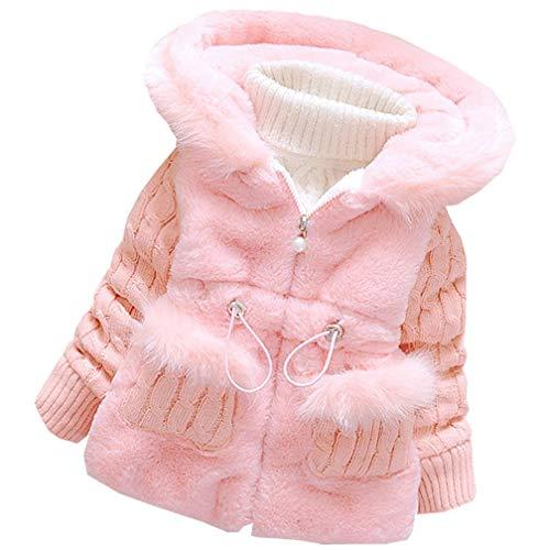 DORAMI Baby Girls Winter Autumn Cotton Warm Cotton Jacket Coat (5T, Pink)