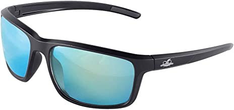 Bullhead Safety Eyewear BH2769PFT Pompano, Matte Black Frame/Temples, Polarized Performance Anti-Fog Blue Mirror Lens, Black TPR Nose Piece and Temple Ends