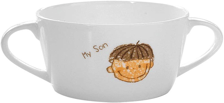 Bol, vaisselle en céramique, bol binaural, four à micro-ondes, céréales dessert occidental bol à salade de fruits bol à porridge, va au lave-vaisselle, mise à la maison (Couleur   D)