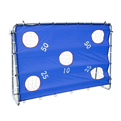 Z ZELUS Fußballtor 2 in 1 Fußball Tor Trainer 175cm x 235cm x 84cm mit Torwand Soccer Goal Garten mit Nylon-Netz Fußballtore aus Pulverbeschichtetem Stahl Abnehmbarem Zielnetz