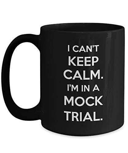 Taza Negra del Juez - No Puedo Mantener la Calma. Estoy en un Juicio simulado. - Regalo Divertido para Juez - Taza Gris Metalizado