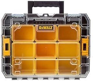 Dewalt DWST1-71194 Organizador con Tapa Transparente TSTAK V, Negro, Naranja