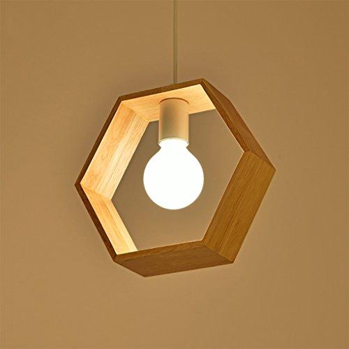 Kroonluchter Nordic massief hout geometrische eenvoudige moderne restaurant studie slaapkamer creatieve kunst balkon plafondlamp E27