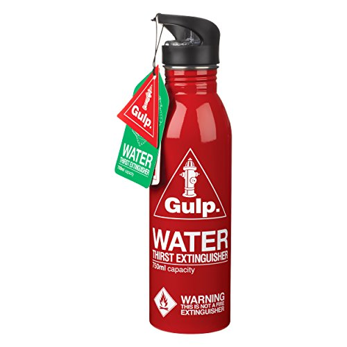 gulp Water Bottle Thirst Extinguisher, 6.8 x 6.8 x 27 cm, Red