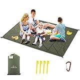 Likorlove Outdoor Picnic Waterproof Blanket 80'x60' / 94'x79', Compact Lightweight Foldable Sand...