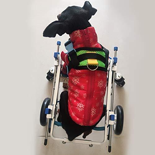 HiHydro Pet Wheelchair, Four Wheels Adjustable Dog Wheelchair Fore-Leg Rehabilitation for Handicapped Dog Pet Wheelchair Training Behavior Aids(XS)