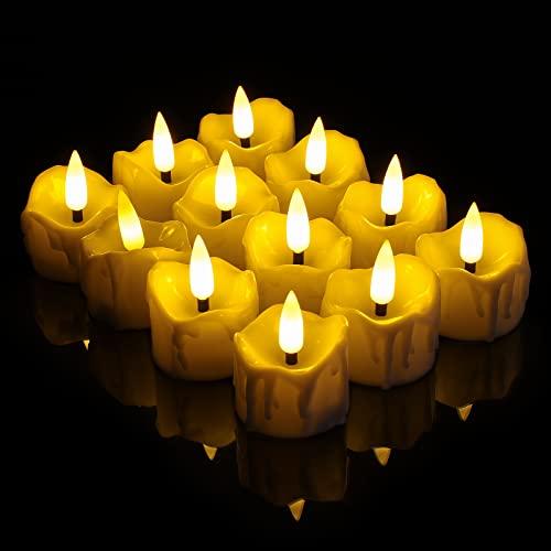 Velas LED, Velas sin llama Candelitas LED con Temporizador con temporizador, Vela de...