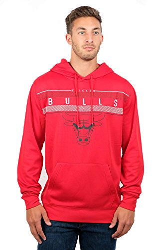 Ultra Game NBA Chicago Bulls Mens Fleece Midtown Pullover Sweatshirt, Team Color, X-Large