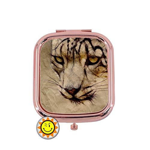 creosoleil Miroir de Poche Femme Cadeau Fantaisie Original Leopard